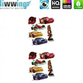 Wandsticker Disney Cars - No. 4792 Wandtattoo Wandaufkleber Sticker Cars Auto Kindersticker Lightning McQueen Nitro Jungen