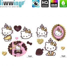 Wandsticker Sanrio Hello Kitty - No. 4799 Wandtattoo Sticker Hello Kitty Sanrio Katze Cartoon Illustration Kindersticker Mädchen