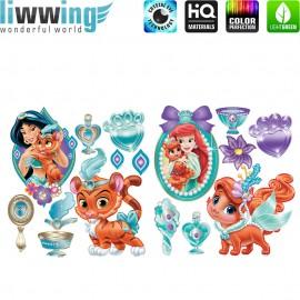 Wandsticker Disney Palace Pets - No. 4816 Wandtattoo Sticker Disney Princesses Schneewitchen Arielle Cinderella Dornröschen