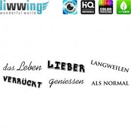 Wandsticker - No. 4842 Wandtattoo Wandaufkleber Sticker Leben Schrift Wörter Spruch Sprüche
