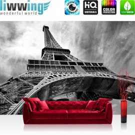 PREMIUM Fototapete - no. 635 | Eiffelturm Paris Wolken Vintage