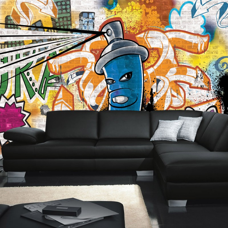 vlies fototapete no 340 graffiti tapete kindertapete. Black Bedroom Furniture Sets. Home Design Ideas