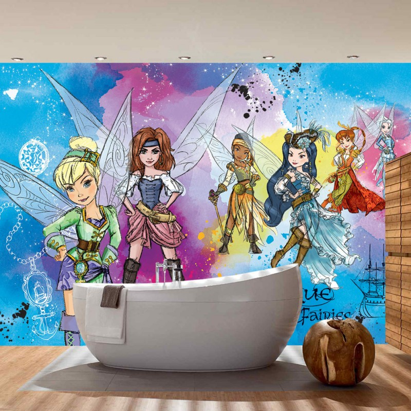 vlies fototapete no 300 disney tapete fairies die. Black Bedroom Furniture Sets. Home Design Ideas
