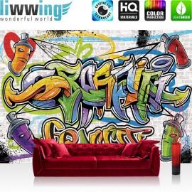 "Vlies Fototapete ""no. 341"" | Graffiti Tapete Kindertapete Dose Sprayer bunt"