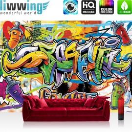 "Vlies Fototapete ""no. 342"" | Graffiti Tapete Kindertapete Dose Sprayer bunt"