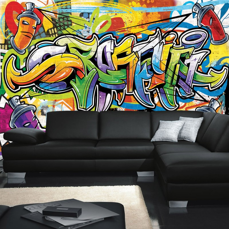 vlies fototapete no 342 graffiti tapete kindertapete. Black Bedroom Furniture Sets. Home Design Ideas