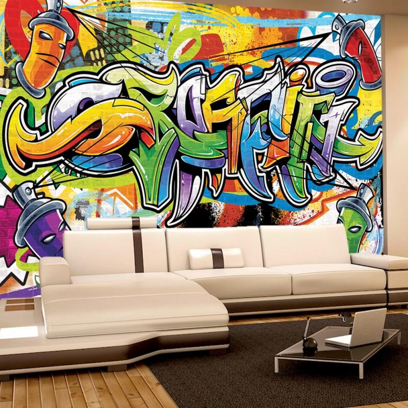 Vlies fototapete no 342 graffiti tapete kindertapete for Graffiti jugendzimmer
