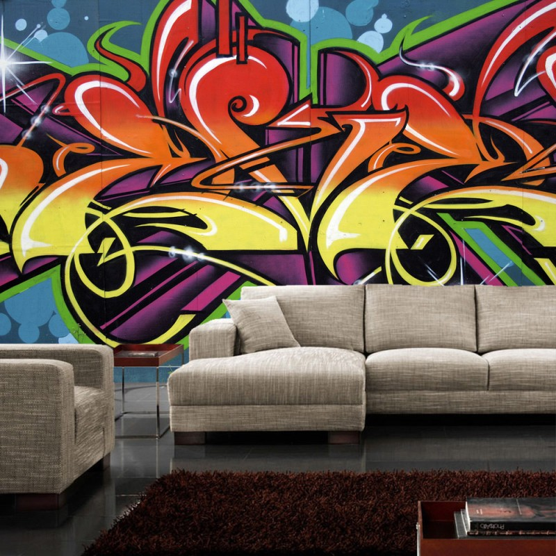 vlies fototapete no 344 graffiti tapete jugendtapete. Black Bedroom Furniture Sets. Home Design Ideas