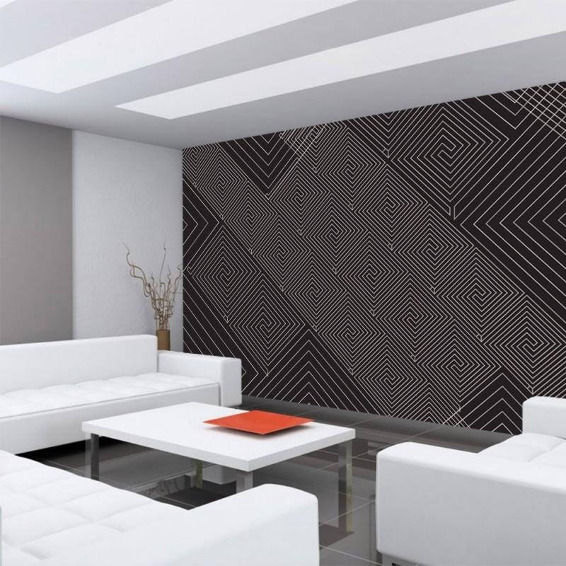 vlies fototapete no 400 illustrationen tapete abstrakt ornamente muster schwarz wei. Black Bedroom Furniture Sets. Home Design Ideas