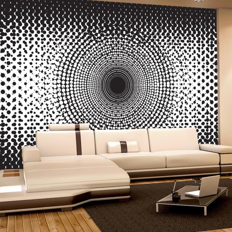 vlies fototapete no 403 illustrationen tapete abstrakt ornamente punkte kreis muster. Black Bedroom Furniture Sets. Home Design Ideas