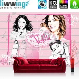 "Vlies Fototapete ""no. 503"" | Disney Tapete Violetta Kindertapete Mädchen Singen Musik rosa | liwwing (R)"