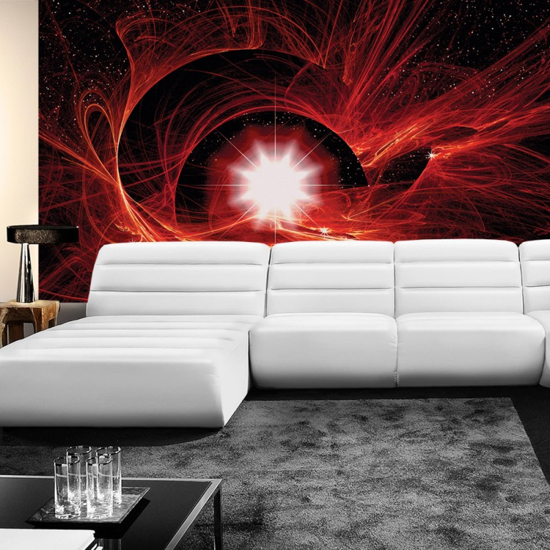 vlies fototapete no 505 kunst tapete abstrakt super nova rot. Black Bedroom Furniture Sets. Home Design Ideas