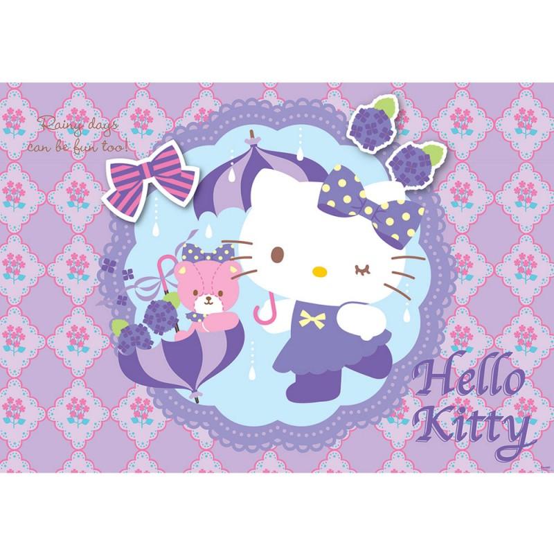 vlies fototapete no 509 m dchen tapete sanrio hello kitty kindertapete cartoon katze blumen. Black Bedroom Furniture Sets. Home Design Ideas