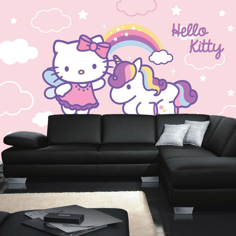 vlies fototapete no 517 m dchen tapete sanrio hello kitty kindertapete cartoon katze. Black Bedroom Furniture Sets. Home Design Ideas