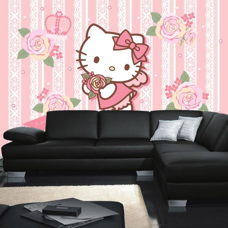 vlies fototapete no 518 m dchen tapete sanrio hello. Black Bedroom Furniture Sets. Home Design Ideas