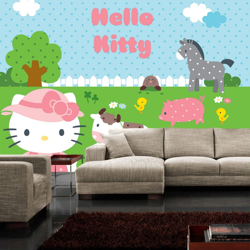 vlies fototapete no 520 m dchen tapete hello kitty. Black Bedroom Furniture Sets. Home Design Ideas