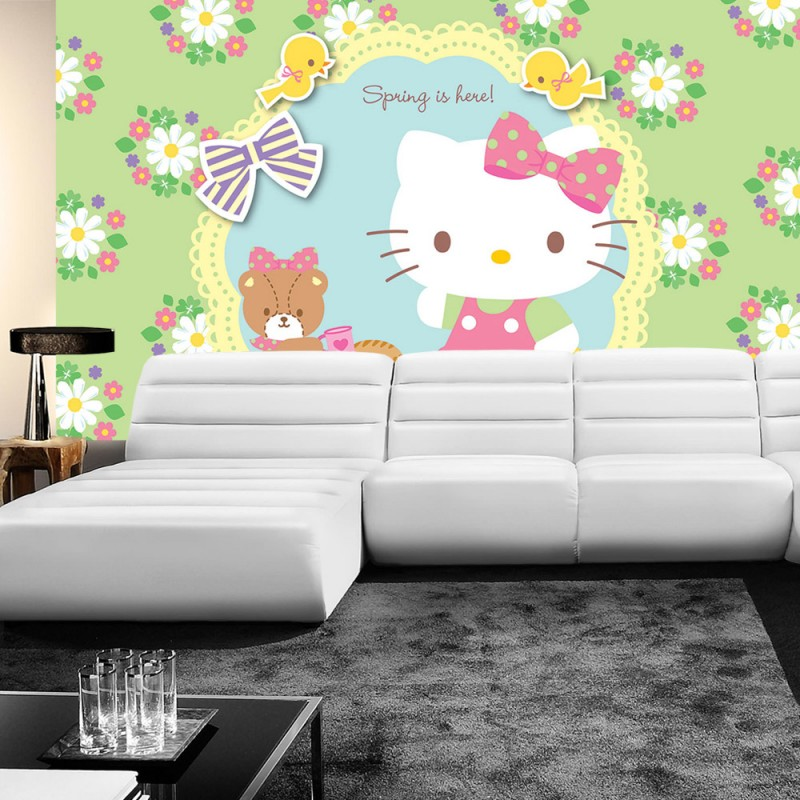 vlies fototapete no 511 m dchen tapete sanrio hello. Black Bedroom Furniture Sets. Home Design Ideas