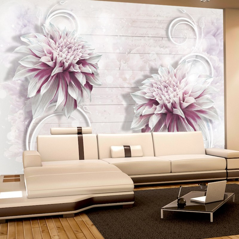 vlies fototapete no 990 blumen tapete holzwand. Black Bedroom Furniture Sets. Home Design Ideas