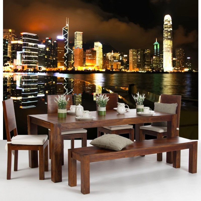 vlies fototapete no 995 skylines tapete nacht skyline. Black Bedroom Furniture Sets. Home Design Ideas
