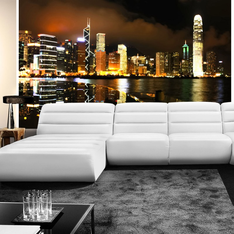 vlies fototapete no 995 skylines tapete nacht skyline. Black Bedroom Furniture Sets. Home Design Ideas