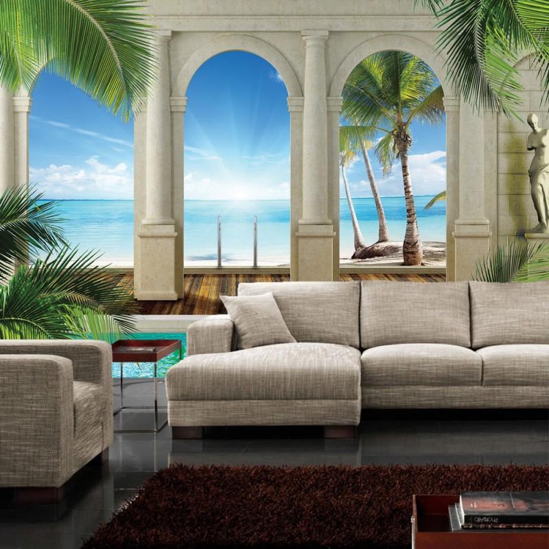 vlies fototapete no 415 meer tapete wasser. Black Bedroom Furniture Sets. Home Design Ideas