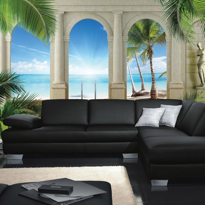 tapete grun blau die neuesten innenarchitekturideen. Black Bedroom Furniture Sets. Home Design Ideas