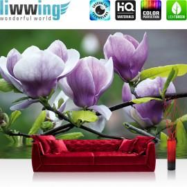 "Vlies Fototapete ""no. 439"" | Orchideen Tapete Blume Wasser Pflanze Orchidee lila"