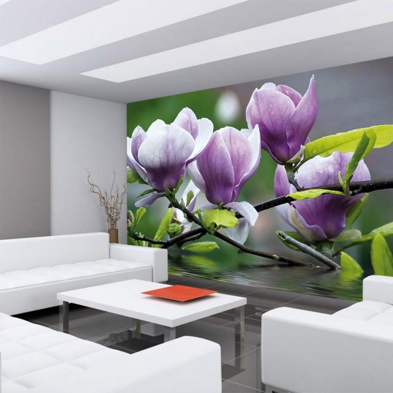 vlies fototapete no 439 orchideen tapete blume wasser. Black Bedroom Furniture Sets. Home Design Ideas