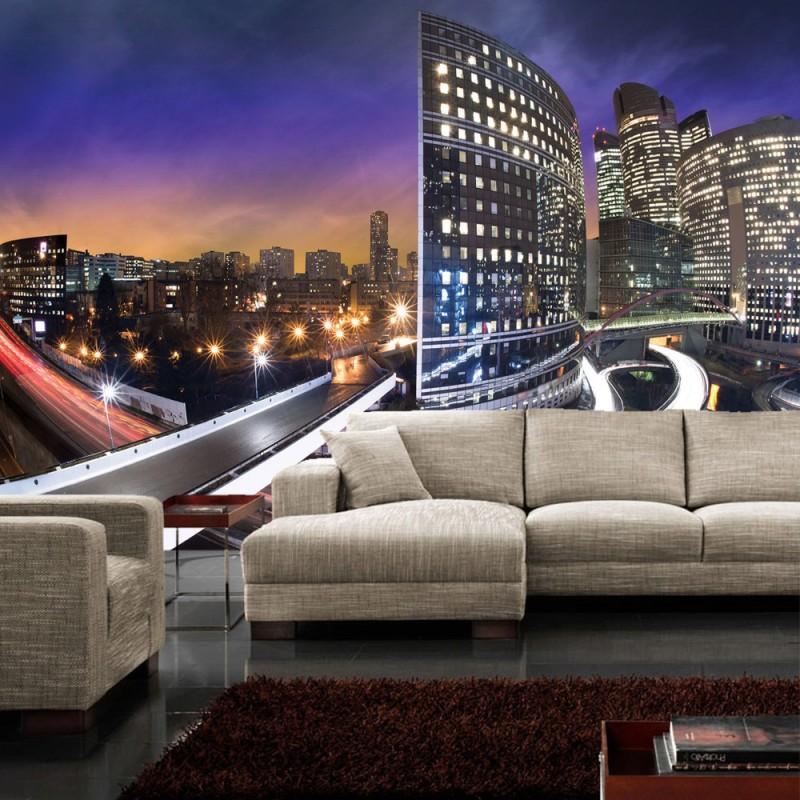 vlies fototapete no 443 new york tapete h user skyline nacht lightning stadt wei. Black Bedroom Furniture Sets. Home Design Ideas