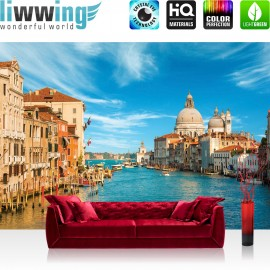 PREMIUM Fototapete - no. 444 | Venedig Wasser Dom Himmel Häuser