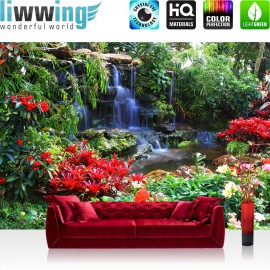 PREMIUM Fototapete - no. 448   Wasserfall Urwald Pflanzen
