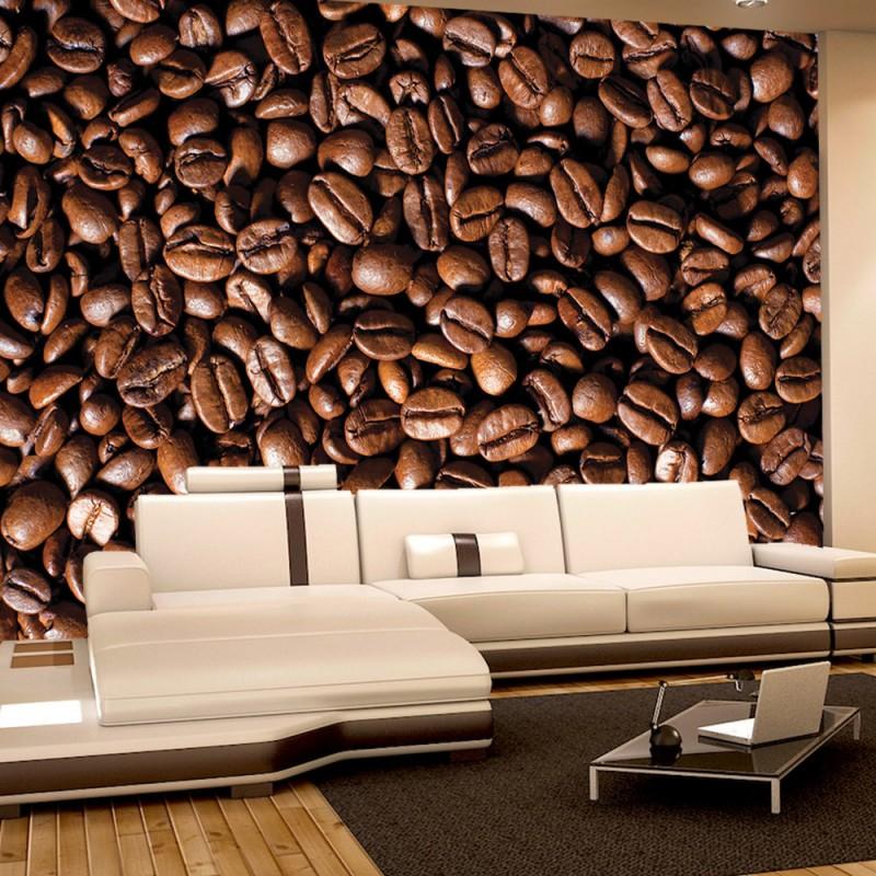 vlies fototapete no 521 kulinarisches tapete kaffee bohnen braun. Black Bedroom Furniture Sets. Home Design Ideas