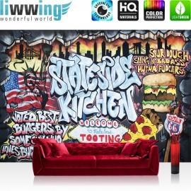 "Vlies Fototapete ""no. 600"" | Graffiti Tapete Kindertapete Graffiti Schriftzug USA bunt"