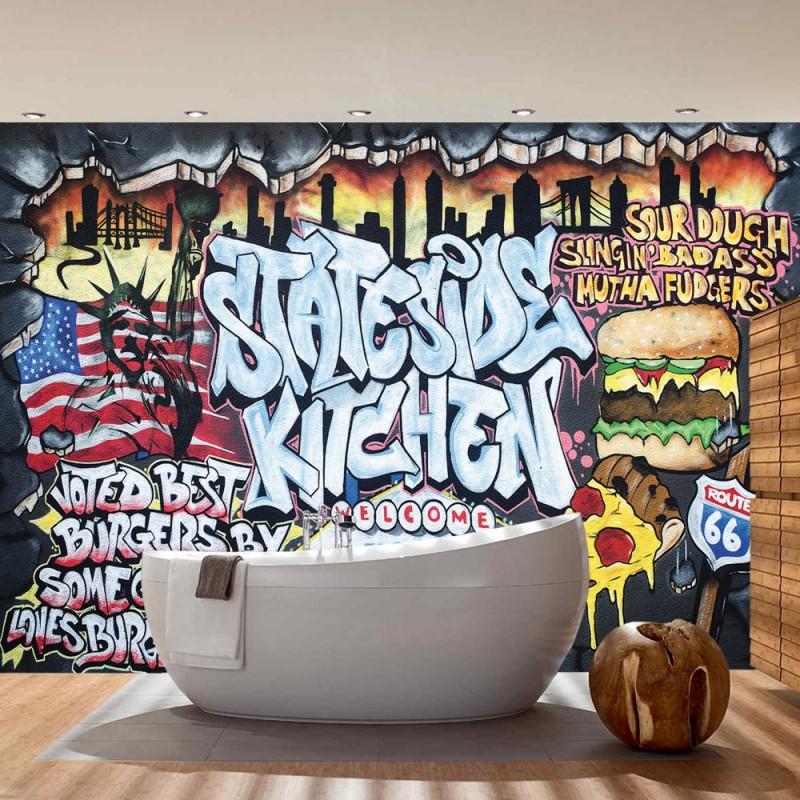 vlies fototapete no 600 graffiti tapete kindertapete. Black Bedroom Furniture Sets. Home Design Ideas