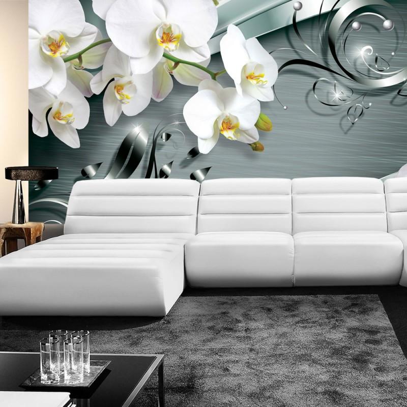 vlies fototapete no 606 orchideen tapete ornament. Black Bedroom Furniture Sets. Home Design Ideas