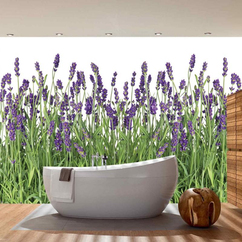 vlies fototapete no 612 natur tapete lavendel pflanze wiese bl ten gr n. Black Bedroom Furniture Sets. Home Design Ideas