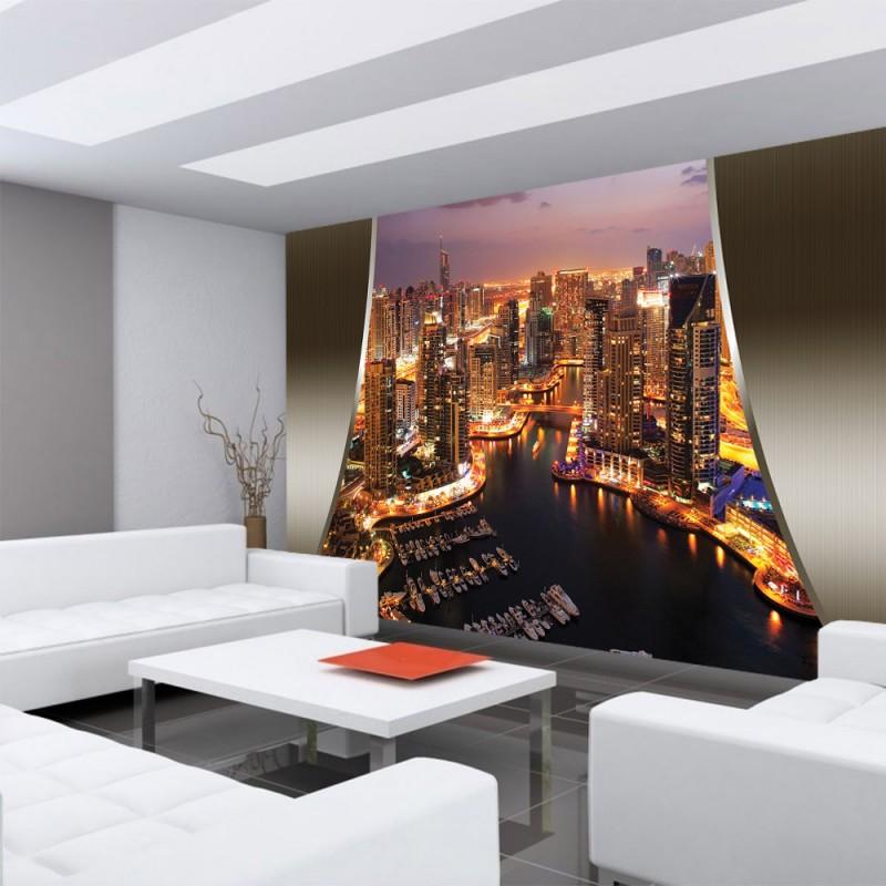 vlies fototapete no 626 skylines tapete skyline. Black Bedroom Furniture Sets. Home Design Ideas