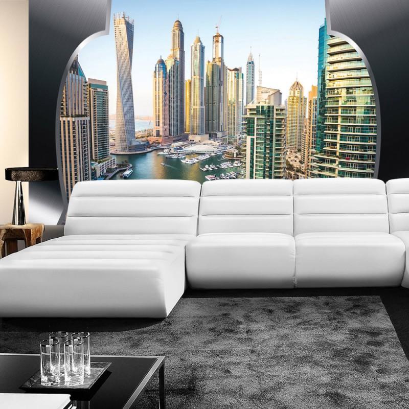 vlies fototapete no 627 skylines tapete skyline hafen. Black Bedroom Furniture Sets. Home Design Ideas