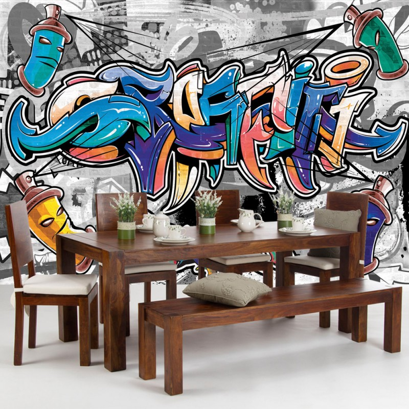 vlies fototapete no 674 graffiti tapete kindertapete. Black Bedroom Furniture Sets. Home Design Ideas