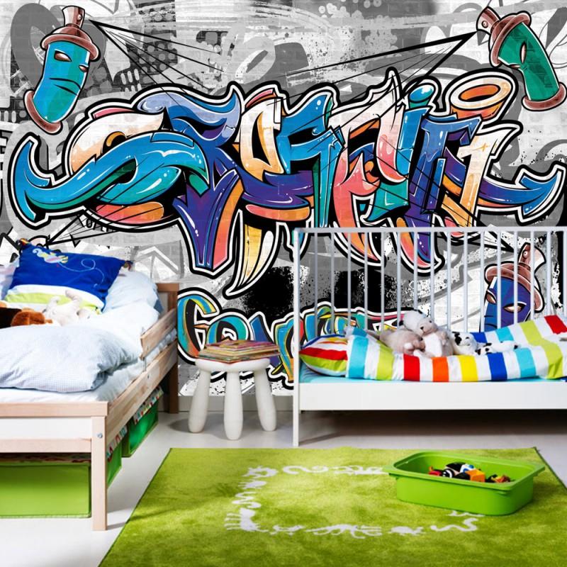 vlies fototapete no 674 graffiti tapete kindertapete. Black Bedroom Furniture Sets. Home Design Ideas