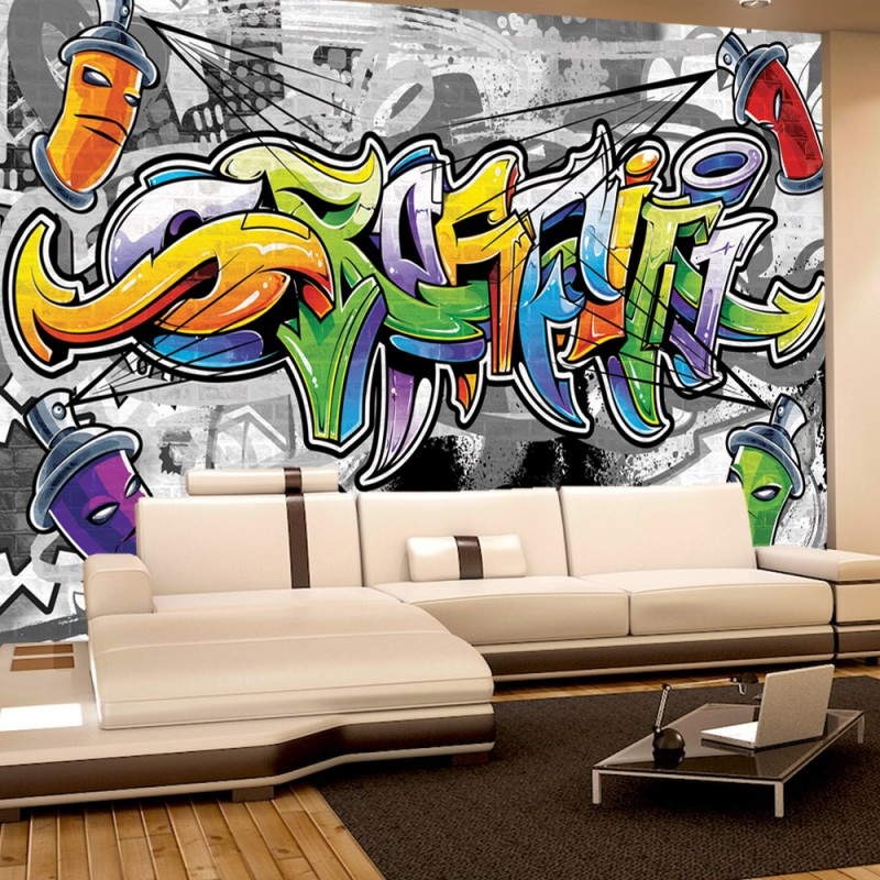 vlies fototapete no 675 graffiti tapete kindertapete. Black Bedroom Furniture Sets. Home Design Ideas