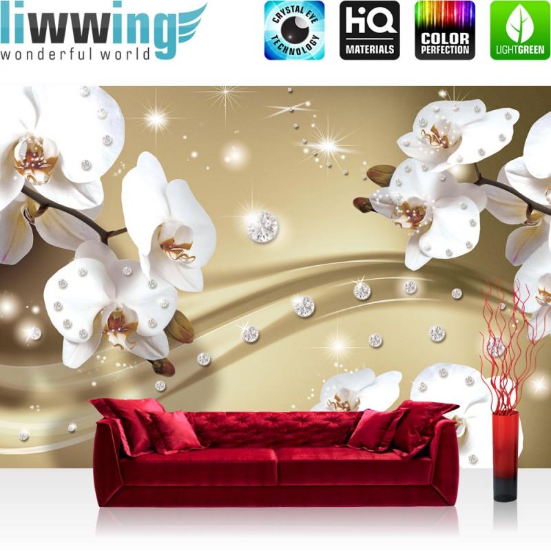 vlies fototapete no 686 orchideen tapete ornament. Black Bedroom Furniture Sets. Home Design Ideas