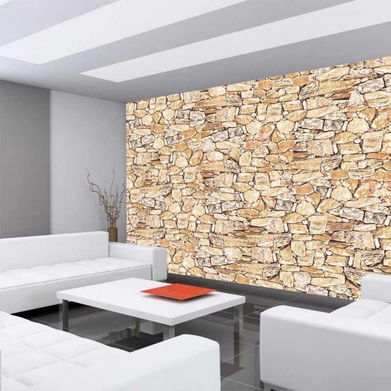 vlies fototapete no 746 steinwand tapete steinwand. Black Bedroom Furniture Sets. Home Design Ideas