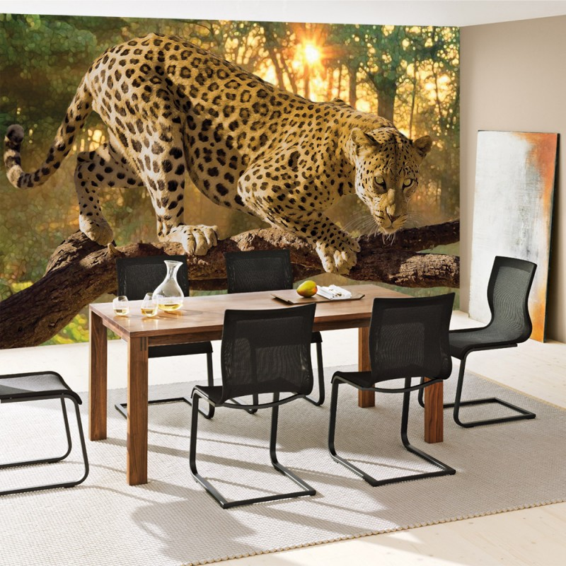 vlies fototapete no 728 tiere tapete gepard baum. Black Bedroom Furniture Sets. Home Design Ideas