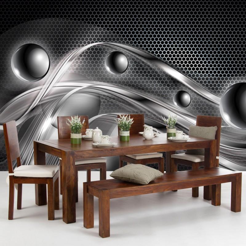 vlies fototapete no 759 3d tapete abstrakt kugeln. Black Bedroom Furniture Sets. Home Design Ideas