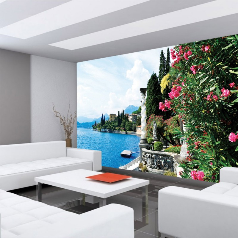 vlies fototapete no 817 landschaft tapete meer villa. Black Bedroom Furniture Sets. Home Design Ideas