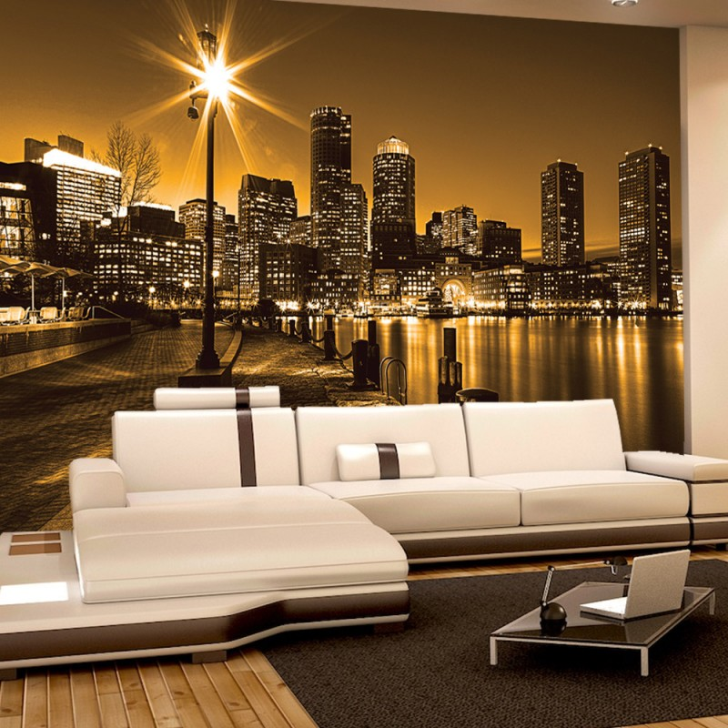 vlies fototapete no 861 new york tapete laterne nacht. Black Bedroom Furniture Sets. Home Design Ideas