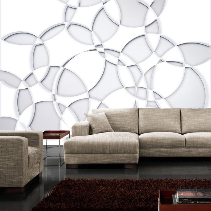 vlies fototapete no 899 3d tapete abstrakt kreise. Black Bedroom Furniture Sets. Home Design Ideas