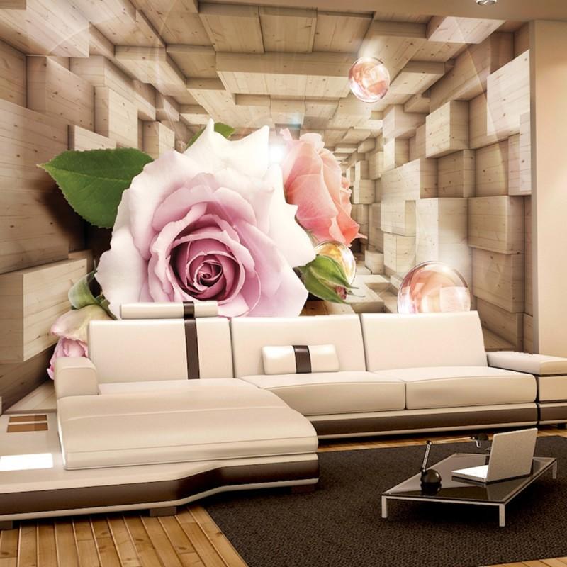vlies fototapete no 972 blumen tapete abstrakt blume. Black Bedroom Furniture Sets. Home Design Ideas