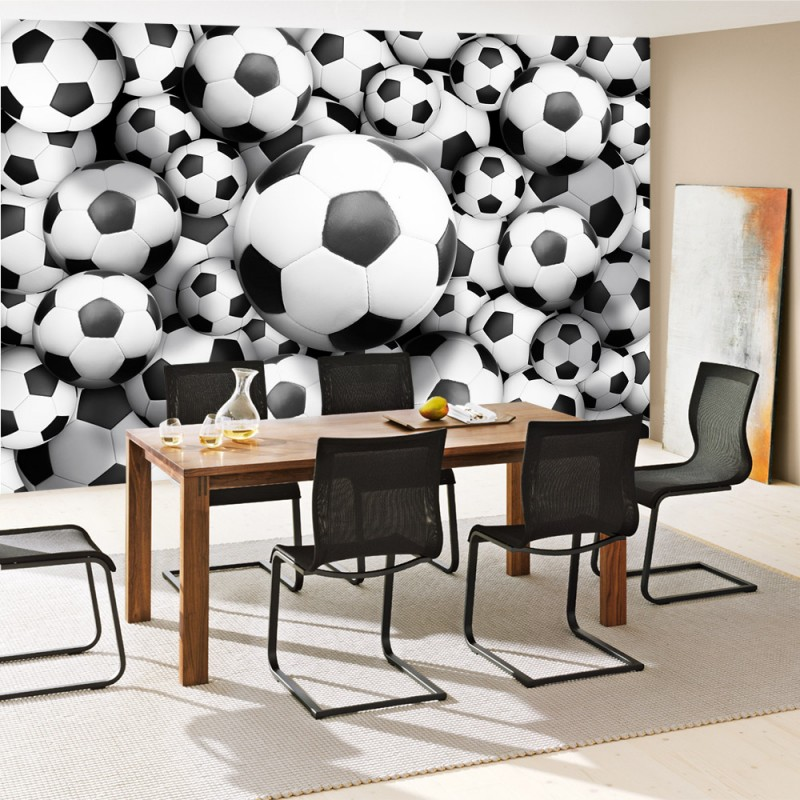 vlies fototapete no 977 fu ball tapete fussb lle sport soccer fussball wm football schwarz. Black Bedroom Furniture Sets. Home Design Ideas